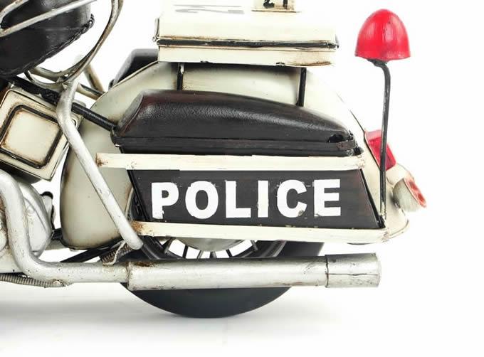 Handmade Antique Model Kit Car-1978 Harley Police Motorcycle