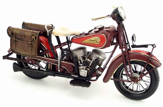 Handmade Antique Model Kit Motorcycle-1936 US Indian Motorcycle
