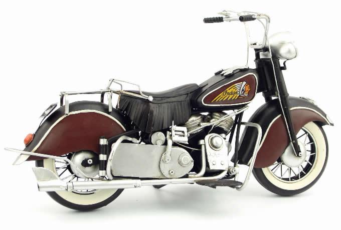 Handmade Antique Model Kit Motorcycle-1951 US Indian Motorcycle