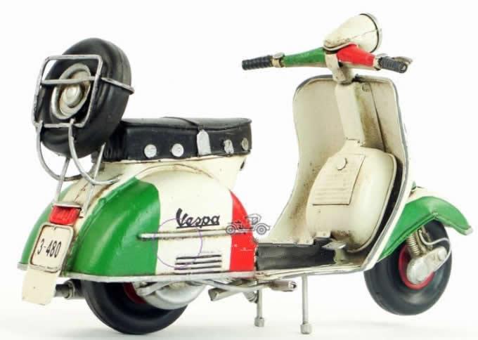 Handmade Antique Model Kit Car-1965 VESPA  Motor Scooter