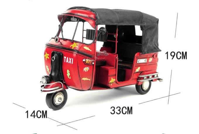 Handmade Antique Model Kit Motorcycle- Thailand Motorcycle Taxi Thai Tuk-tuk Car