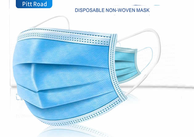 Disposable Medical Protective Mask Three Layer Nonwoven Filter of prevention air-borne droplets